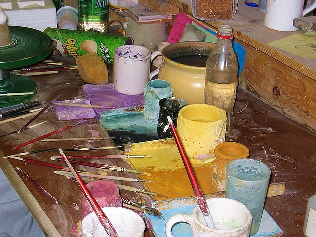 painting studio in Deruta