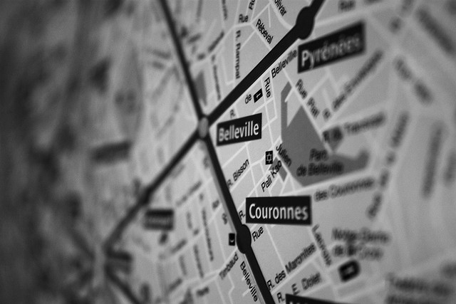 Paris Metro map by Adrian Tombu via Flickr