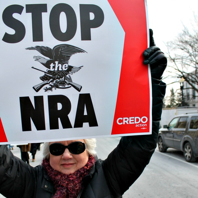 Stop the NRA -- creative commons photo by Elvert Barnes