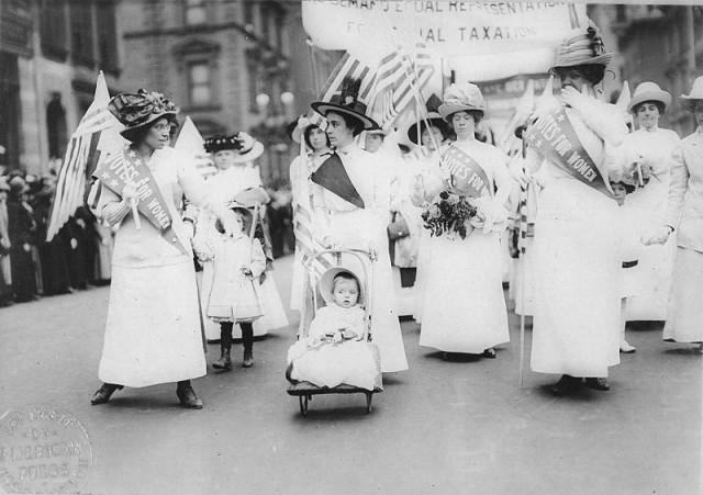 Feminist Suffrage Parade, New York City, 1912 - public domain